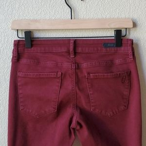 ARTICLES OF SOCIETY Red stretch skinny jeans 26